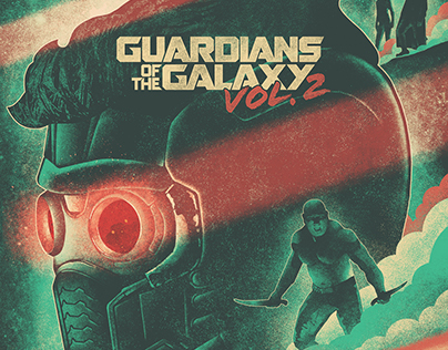 Guardians of the Galaxy Vol. 2 Illustrated Poster