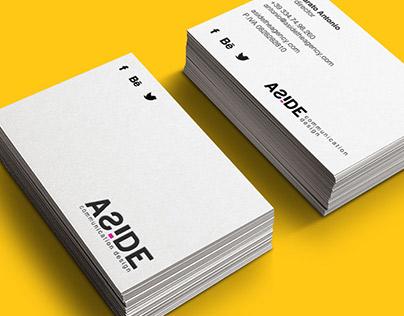 ASIDE agency | logo and brand identity