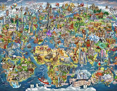 Beautiful World - Map Illustration