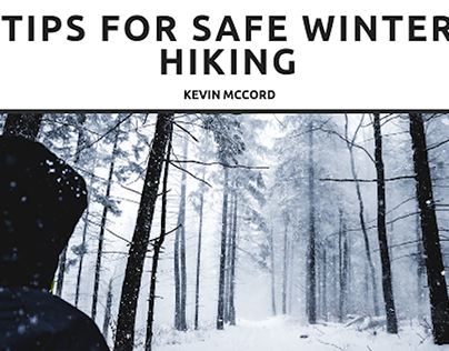 Kevin McCord Offers Tips for Safe Winter Hiking