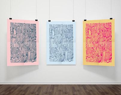 Intaglio NYC Print // Etching