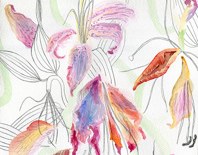 Floral art print collections