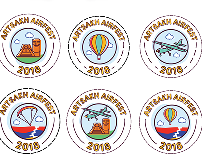 Artsakh Airfest 2018 Stickers