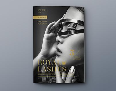 Redesign of Royal Lashes Magazine