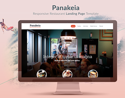 Panakeia-PSD To Bootstrap Landing Page Template