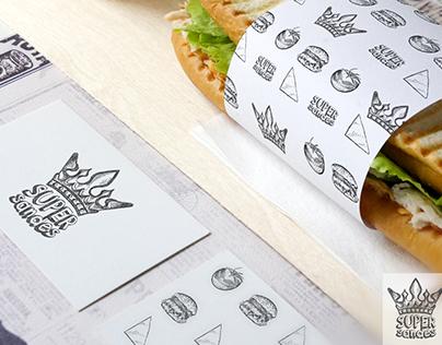 Logo&identity design for Super Sandes