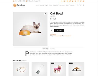 Single Shop Product - Petshop WordPress Theme