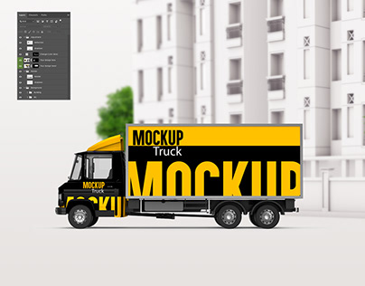 Free Mockup - Truck 3D