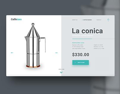Caffeines / e-commerce concept