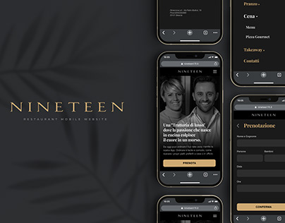 Nineteen Restaurant Mobile Web UI Design
