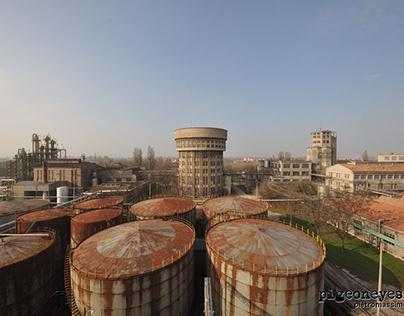 Eridania alcool distillery in Ferrara