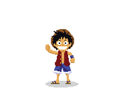 8 Bit Luffy