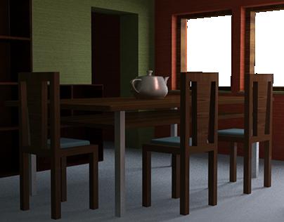Primer modelado y render 3D