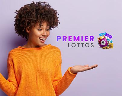 Premier Lottos Branding - Blue