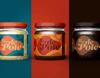 Packaging brigadeiro de pote brownie do Rapha