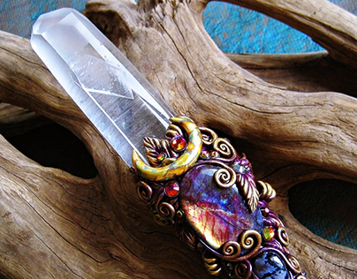 KEY TO THE FAERIE LANDS - Magic Crystal wand