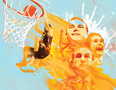 Lehigh NBA Basketball Illustration