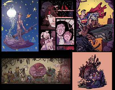 Covers, commissions and Illustrations