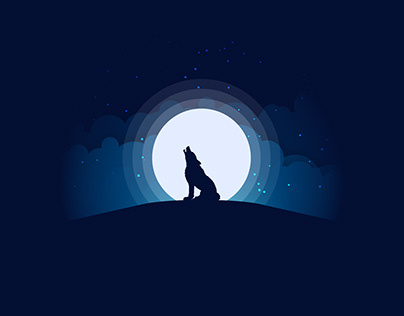 Moonlight Vector Illustration