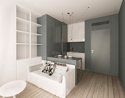 Tiny apartment in Monaco