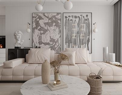 Modern Living Room Renders