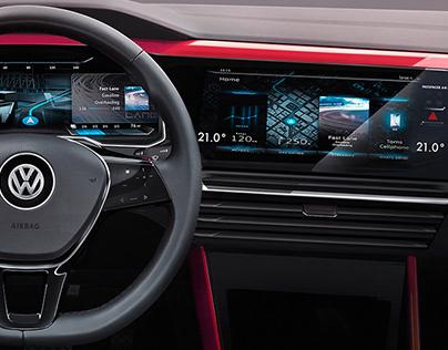 VW Golf VIII dashboard - May 2018 Larson/AutoBild
