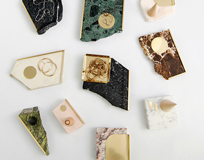 ECKE - upcycled stone trays for jewellery