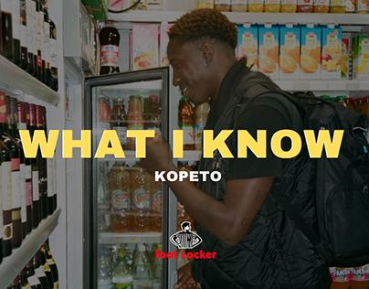 [WHAT I KNOW : FOOTLOCKER EUROPE x KOPETO]