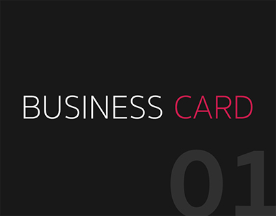 BUSINESS CARD VOL.1