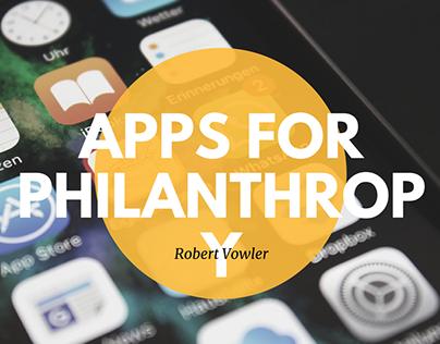 Robert Vowler   Apps For Philanthropy