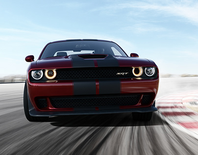 The Dodge Hellcat CGI