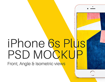 iPhone 6s Plus Rose Gold PSD Mockup