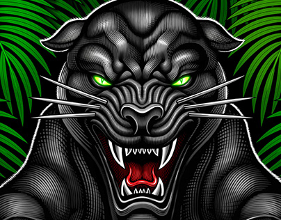 "Break Point ""Black Panther"" rash guard illustration"