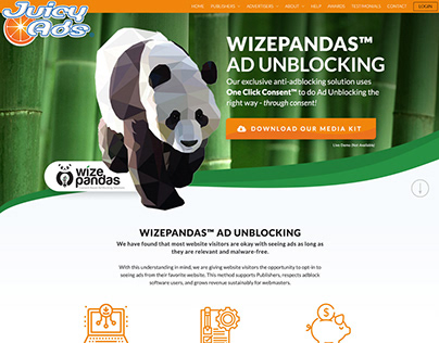 Wise Panda Landing Page Layout