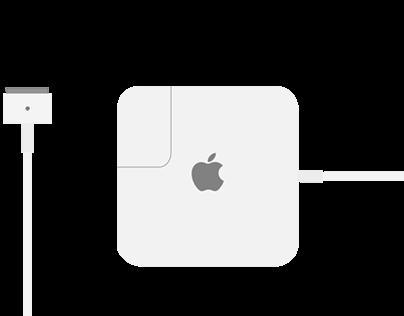 Mac Charger Flat Design