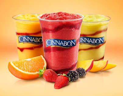 Key Visuals for Cinnabon's cold beverage line