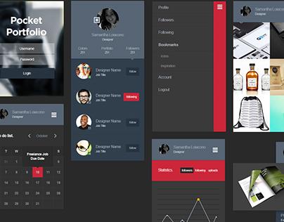 Pocket Portfolio App UI