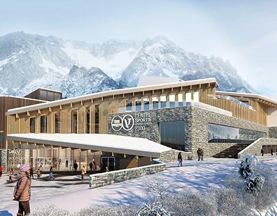 3D Sports Centre Visualizaiton