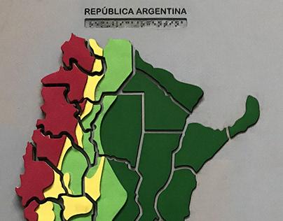 Diseño de Material Didactico - Mapas Hápticos Argentina