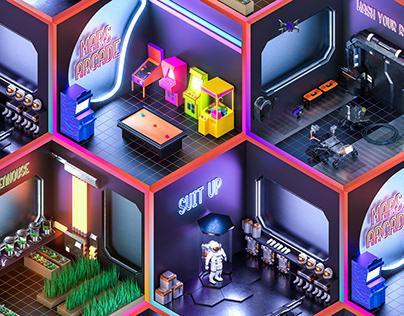 Martian Bunkers Dioramas