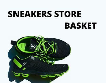 Sneakers store basket