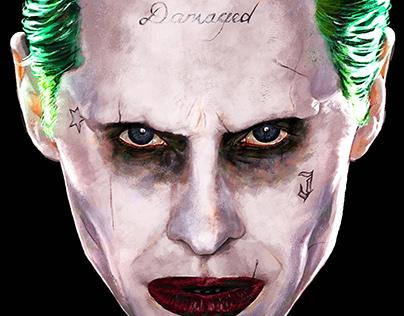 Joker art for official Suicide Squad Merchandise