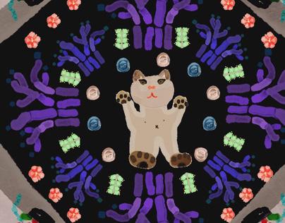 Cat scarf pattern