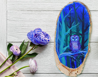Spring in owl's forest
