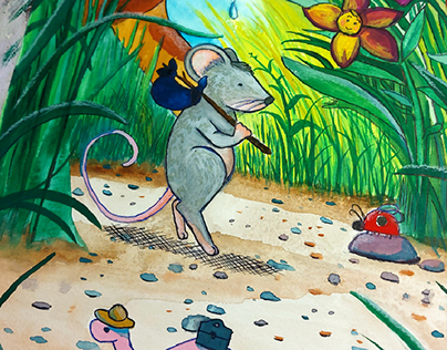 The traveling mouse 🐁 illustration