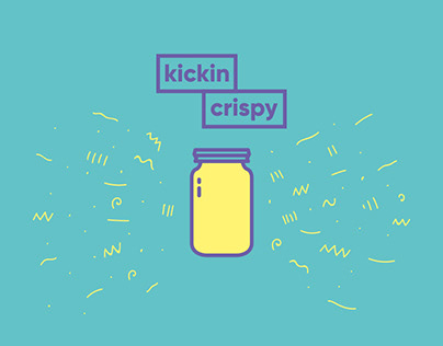 Kickin Crispy: Logo and Packaging Design