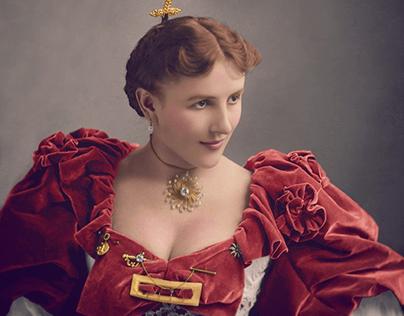 The Lady in Red Velvet