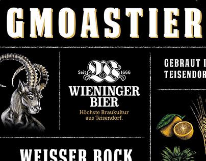 "Label Design ""Wieninger Werkstatt Biere"""