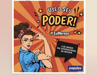 Identidade Visual de campanha - Dia das mulheres