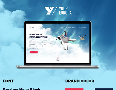 Main pages for the travel company website